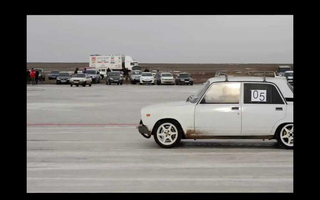 Автогонки на льду под Астраханью